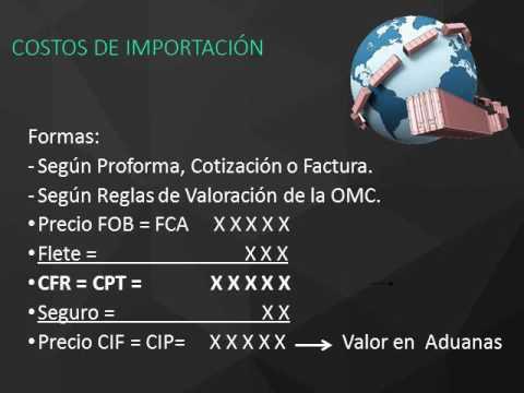 COSTOS DE NEGOCIOS INTERNACIONALES IMPORTACIONES   PARTE 1