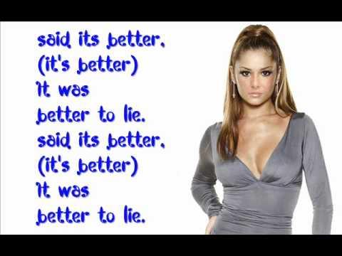 "Cheryl Cole Ft  August Rigo - ""Better To Lie"" With Lyrics on Screen"