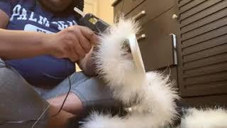 How to make fluffy fur slides!!!!! DIY😊😊😊