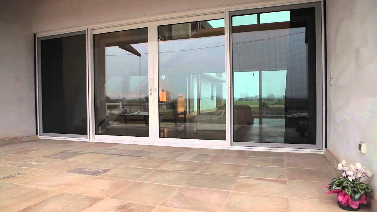 Alzante scorrevole in legno e porte interne in alluminio vetro youtube - Porte interne alluminio e vetro ...
