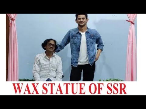 first-wax-statue-of-sushant-singh-rajput-gets-unveiled-|-asansol-west-bengal-|made-by-sushant-ray