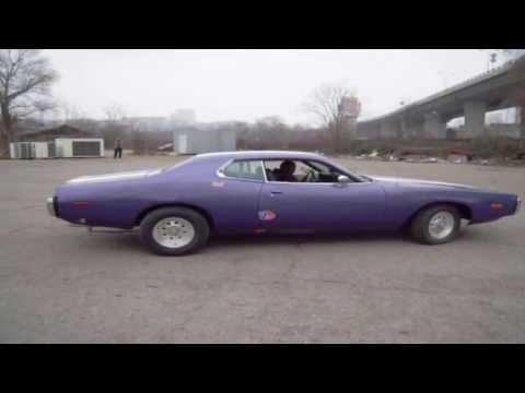1973 Dodge Charger 440 donuts Belgrade