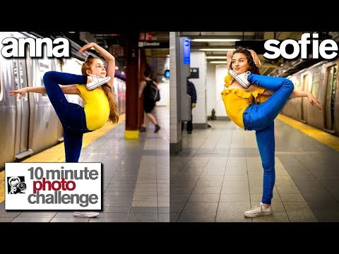 Anna McNulty Copies Sofie Dossi **Record Breaking 10 Min Photo Challenge**
