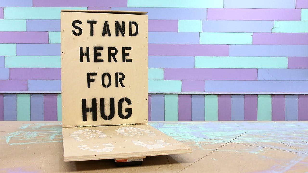 The Hug Machine Send A Hug Through The Mail In A Box Youtube
