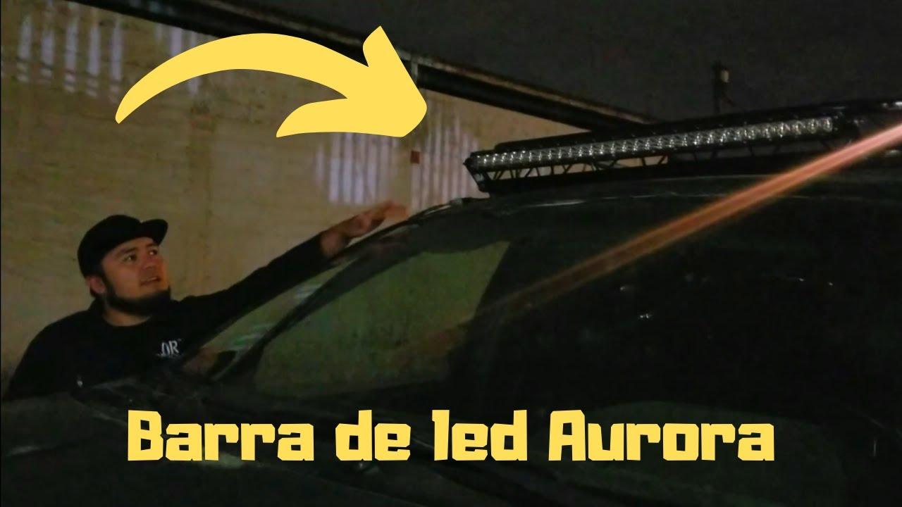 Unboxing e instalacion de barra de led marca AURORA