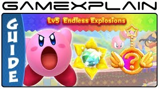 Kirby Triple Deluxe - World 5 Sun Stones & Rare Keychains Guide & Walkthrough (3DS)