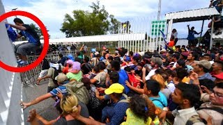 🔴 First Wave Of Migrant Caravan Braking Through Border & Barber Wire (Full News Compilations) !!