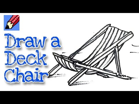 How to draw a Deck Chair Real Easy - for kids and beginners