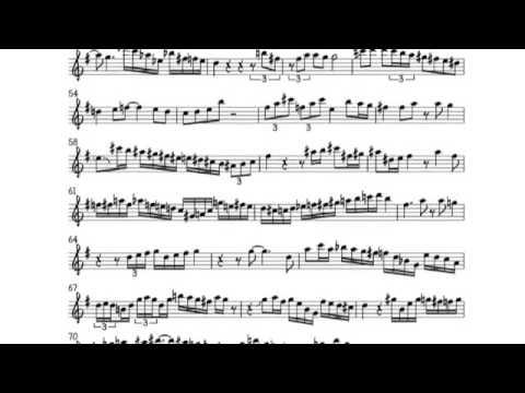 Triste--Vincent Herring Transcription