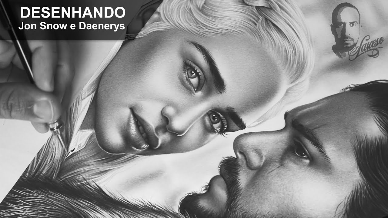 Desenhando Jon Snow E Daenerys Charles Laveso Youtube