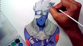 How To Draw KAKASHI From Naruto (TIMELAPSE DRAWING)(This is the speed drawing of Kakashi Hatake from the popular Anime Series Naruto. Step-by-Step Version of how to draw it will be uploaded soon by tomorrow., 2015-07-13T15:22:00.000Z)