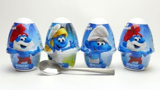 Smurf German Pudding Dessert with Toy unboxing
