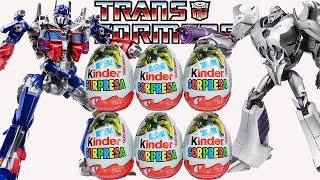 Huevos Kinder Sorpresa de Transformers: Optimus Prime, Megatron.Transformers Surprise Eggs