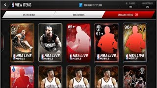 Variety pack opening including rare packs! (Slam dunk, Legendary, Fan favorite) NBA Live Mobile