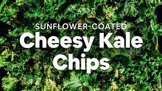 Sunflower-Coated Cheesy Kale Chips   Minimalist Baker Recipes