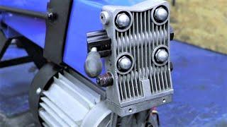 КОМПАКТНЫЙ ДРОВОКОЛ! С электродвигателем, гидронасосом и МОЩНОЙ пружиной! ЧТО ВНУТРИ?