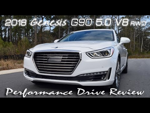 2018 Genesis G90 5.0 V8 High Performance Drive Review
