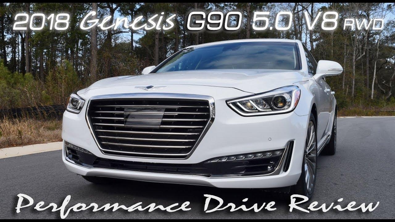 2018 Genesis G90 5 0 V8 High Performance Drive Review