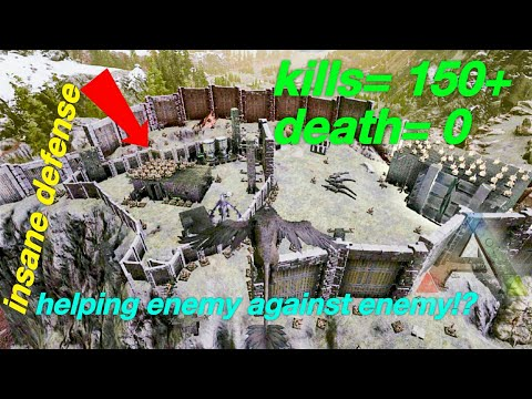 Ark: new official servers defending my enemy's base from my biggest enemy ever/the alpha tribe!Ep.12