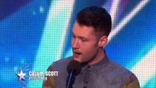 Golden boy Calum Scott hits the right note - Audition Week 1 - Britain's Got Talent 2015