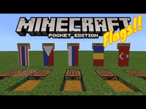 5 Country Flag Banners Thailand Philippines Romania Russia Turkey Minecraft