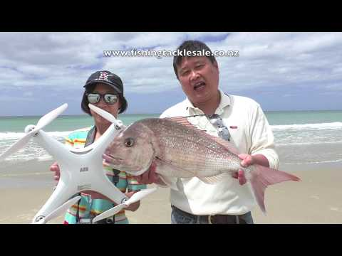 Drone Fishing Snapper East Coast New Zealand