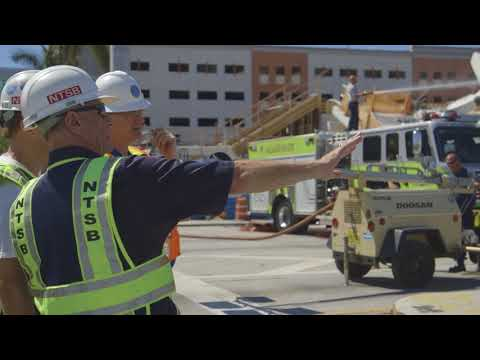 NTSB B-Roll of Miami, FL bridge collapse