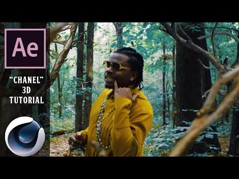 """Young Thug """"Chanel"""" Music Video: 3D EDITING TUTORIAL  (Cinema 4D, After Effects)"""