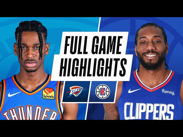 THUNDER at CLIPPERS | FULL GAME HIGHLIGHTS | January 24, 2021