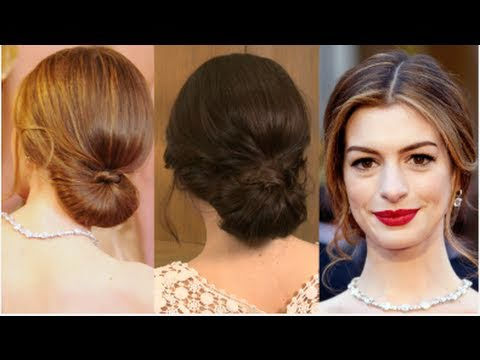 Get Anne Hathaway\'s Oscars Red Carpet Hairstyle - YouTube