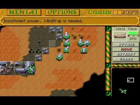 Dune 2 - Ordos mission 9 speedrun (last) 35:02 (PC DOS)