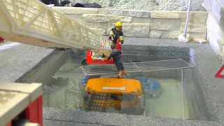 RC TRUCK ACCIDENT | HEAVY TRUCK  ACCIDENT AT THE CONSTRUCTION SITE |  RC LIVE ACTION