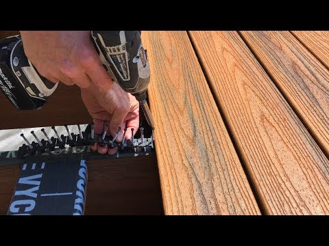 Installing Trex Transcend Composite Decking – Part 1