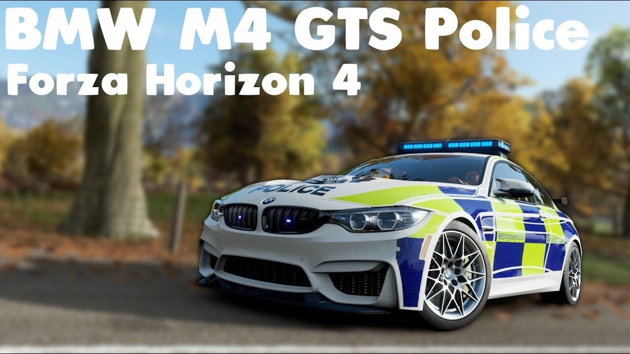 forza horizon 4 - 2016 bmw m4 gts police - driving gameplay - 60fps