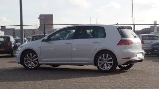 Volkswagen NEW Golf 2018 Highline Bluemotion Oryx White Pearl 17 inch Karlskoga walk around & inside