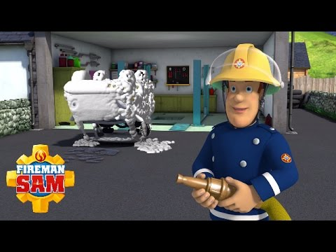 Fireman Sam Official - A Fire in the Garage   Learn About Jobs Day #4