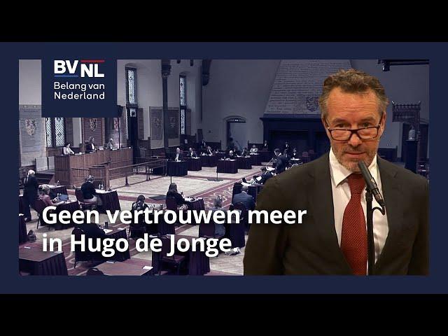 Geen vertrouwen meer in Hugo de Jonge   14-07-2021