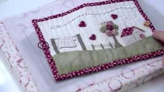 Kit de costura com retalhos bordados por Marie Suarez – Francês