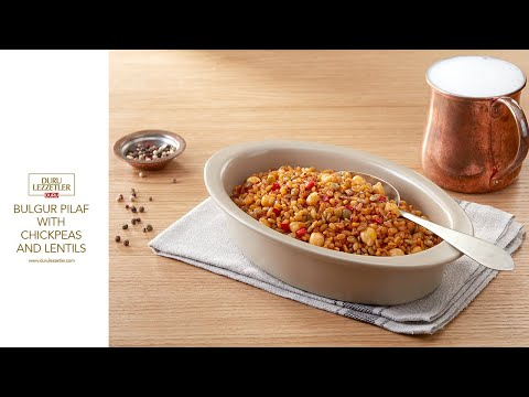 Bulgur Pilaf With Chickpeas And Lentils
