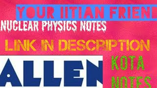 Allen Notes For Neet Pdf