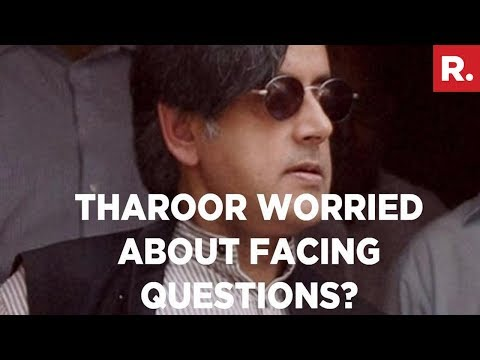 Shashi Tharoor Full Press Conference - Republic TV Was Stopped