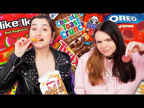 XXL CANDY & SNACKS TEST 🍬👀 Wir probieren Süßigkeiten aus ALLER WELT! ✈️