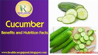 Health Benefits Of Cucumber | Cucumber Nutrition, Cucumber Health Benefits Facts, Health Tips
