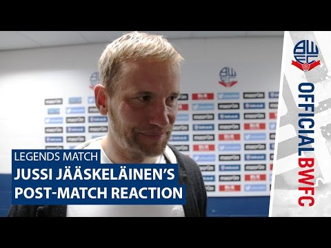 LEGENDS MATCH | Jussi Jääskeläinen's post-match reaction