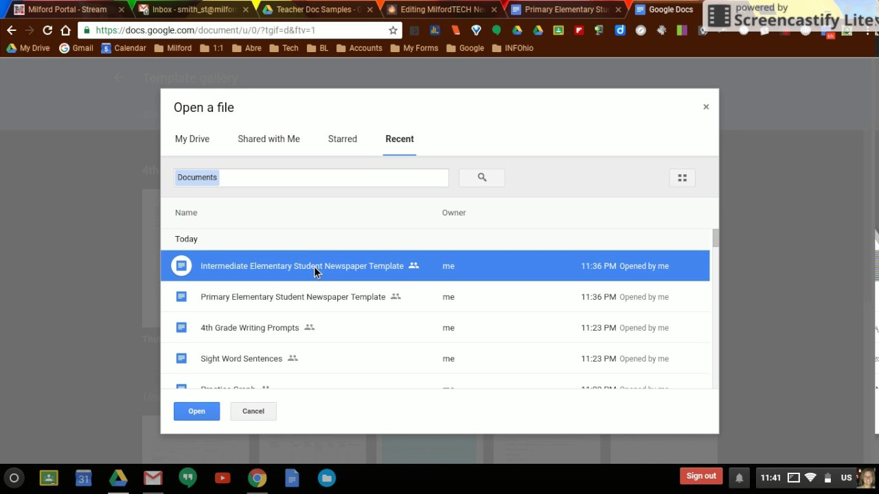 Google Drive Template Gallery Youtube