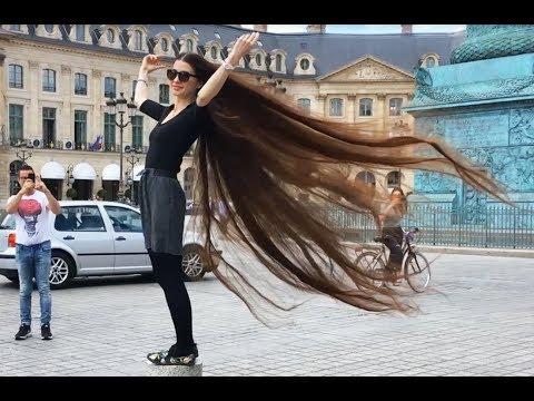 The longest hair of Youtube on the public place (Paris, France). Grow long hair!