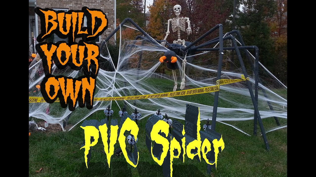 building homemade pvc spider halloween prop - youtube