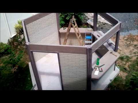 CASA MODULAR quiosque pré fabricado em GRC, Casa de baixo custo