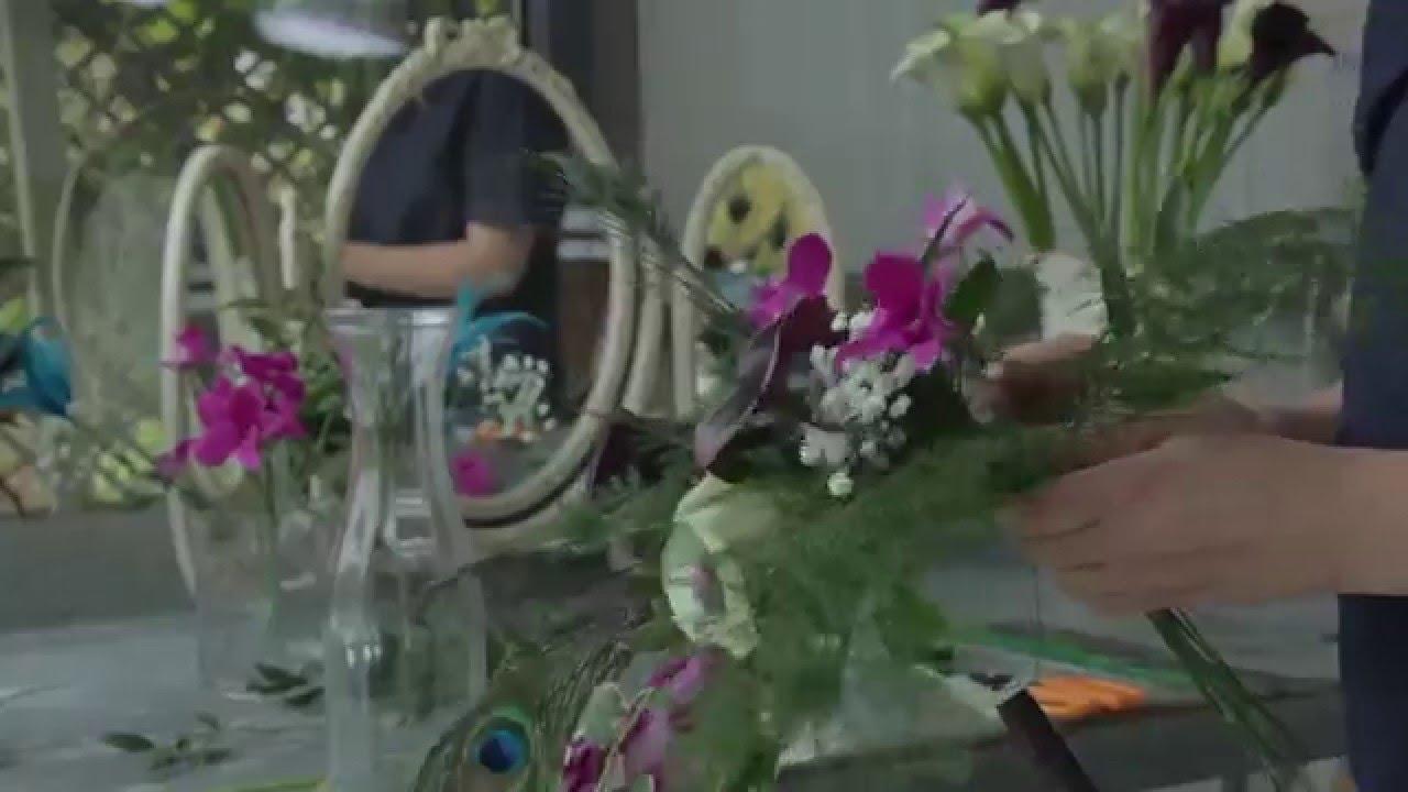 Art Deco Inspired Floral Arrangements Youtube