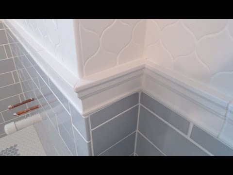 Complete bathroom Schluter systems products, Part 5 installing Cornice Molding or Chair Rail